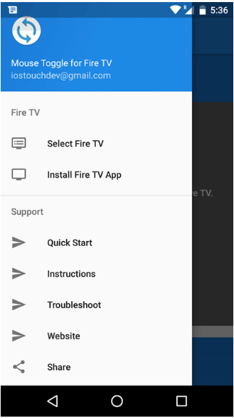 3rd step to Controll ShowBox using Amazon Fire TV Remote