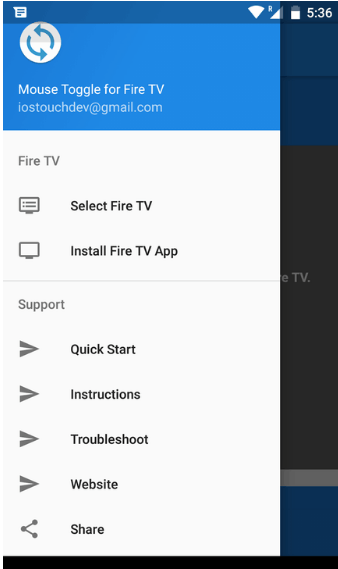 5th step to Controlling ShowBox using Amazon Fire TV Remote