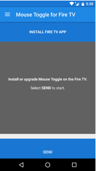 Controlling ShowBox using Amazon Fire TV Remote