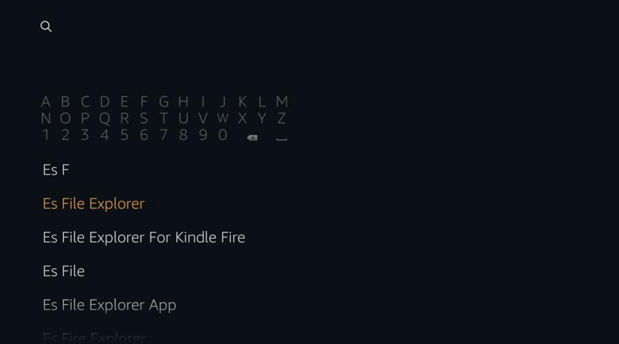 Search Es File Explorer