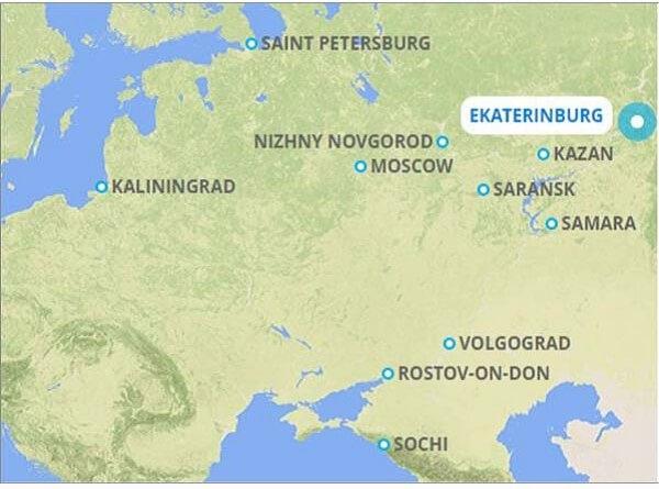 FIFA World Cup 2018 on FireStick map