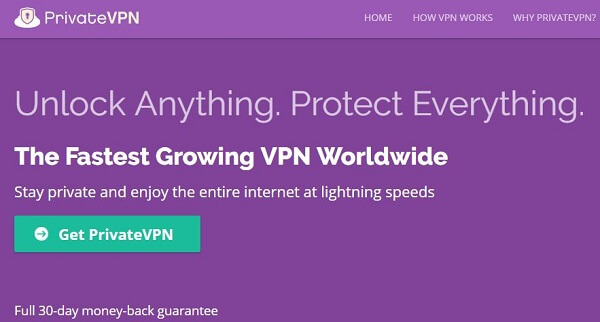 PrivateVPN best VPN for FireStick