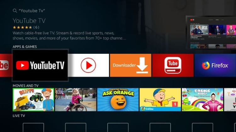 How-to-Install-YouTube-TV-on-Fire-TV-Stick-Amazon-Store-Step-4