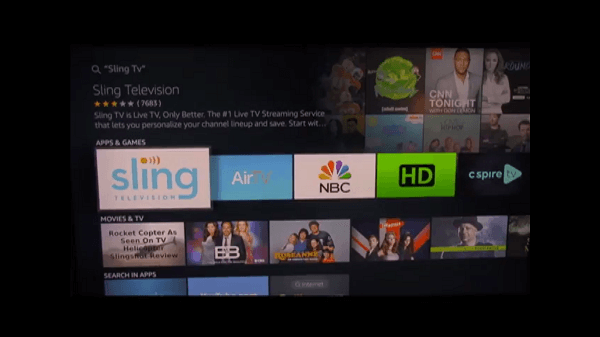 2nd Step Sling TV Firestick