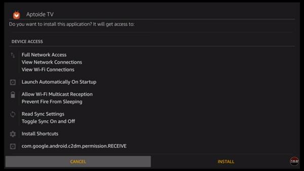 Step 9 Aptoide TV on FireStick using Downloader