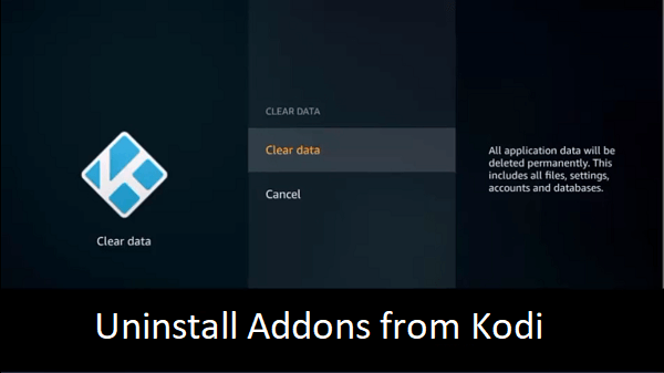 uninstall kodi addons from firestick