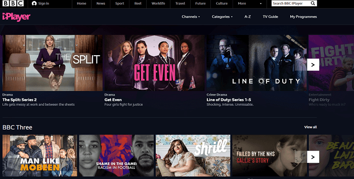 BBC-iplayer-firestick-interface