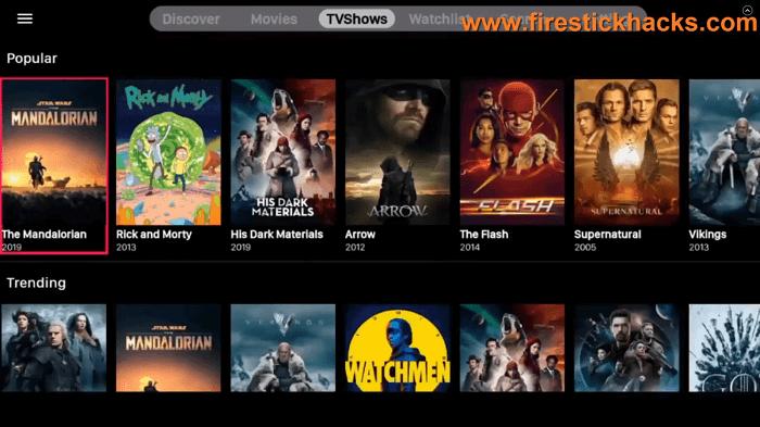 VIVA-TV-APK-interface