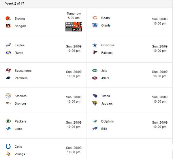 NFL-schedule-week-2