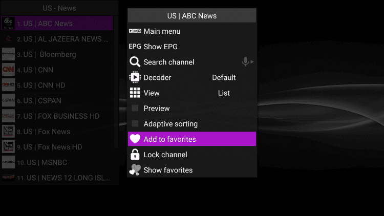 How-to-Add-Channels-to-Favorites-on-Perfect-Player-Step2