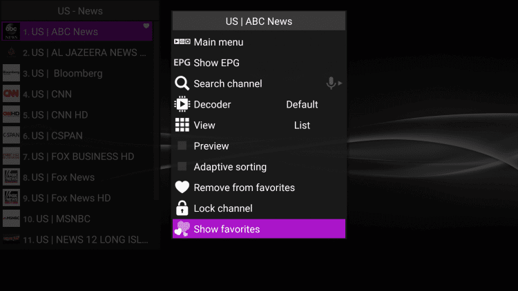 How-to-Add-Channels-to-Favorites-on-Perfect-Player-Step3