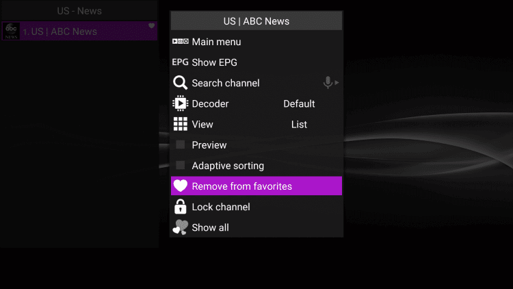 How-to-Add-Channels-to-Favorites-on-Perfect-Player-Step5