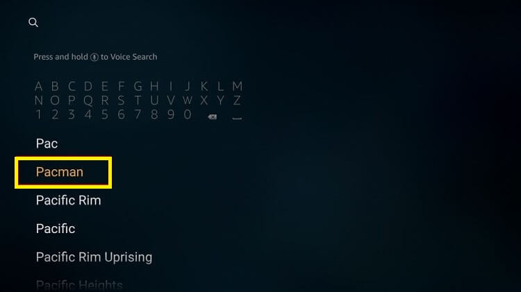 install-games-using-search-bar-step2